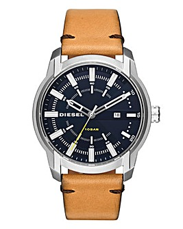 DIESEL Mens Armbar Tan Watch