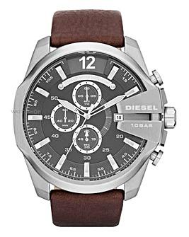 DIESEL Mega Chief Brown Strap Watch