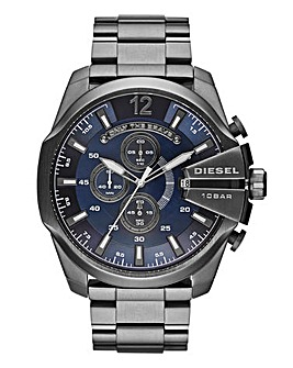 DIESEL Mens Mega Chief Gunmetal Bracelet Watch