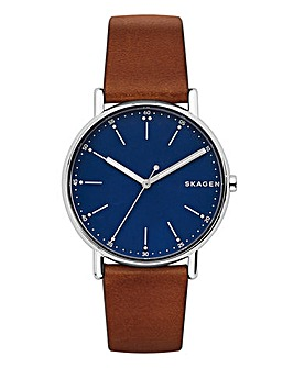 Skagen Signature Brown Strap Watch