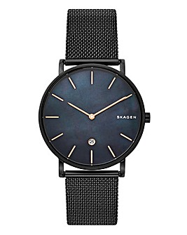 Skagen Mens Hagen Black Mesh Watch
