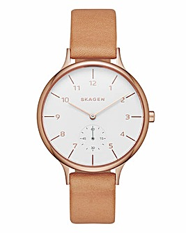 Skagen Anita Tan Strap Watch