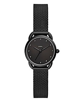 Fossil Tailor Black Mesh Watch