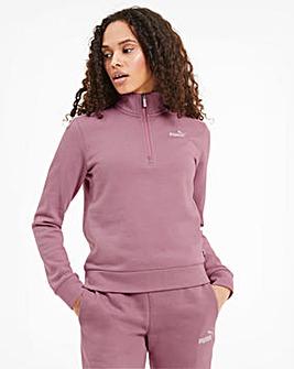 Puma Essential Half Zip Crew Sweatshirt