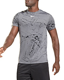 Reebok Work Out Ready All Over Print Short Sleeve T-Shirt