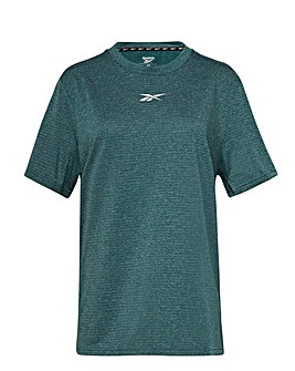 Reebok Work Out Ready Melange Short Sleeve T-Shirt