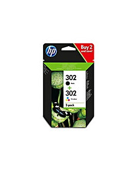302 STD Black/Tri-Colour Ink Cartridge