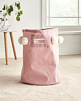 Pom Pom Laundry Bag