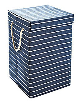 Nautical Stripe Laundry Basket