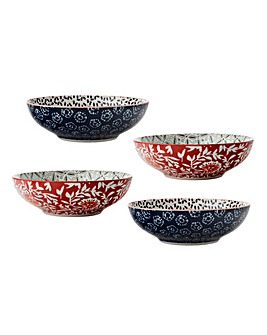 Boho Set of 4 18cm Coupe Bowls