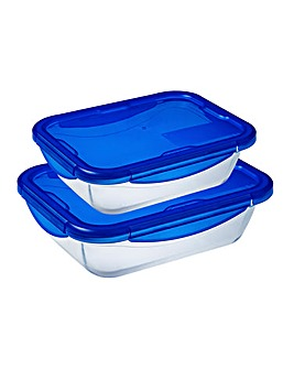 Pyrex Cook&Go 0.8L & 1.7L Two Piece Set