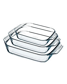 Pyrex Irresistable Set of 3 Roasters