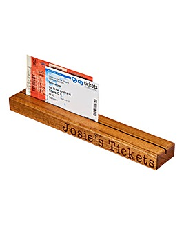 Personalised Ticket Holder