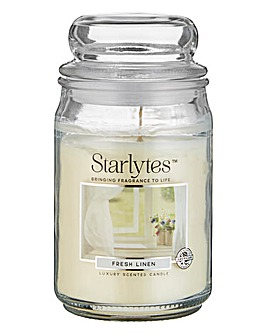 Starlytes Large Jar Candle Fresh Linen