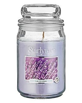 Starlytes Large Jar Candle Lavender