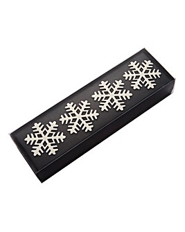 Snowflake Set 4 Napkin Rings