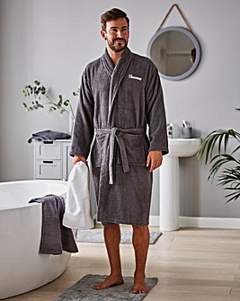 Personalised Mens Towel Robe