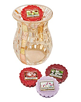 Yankee Candle Mosaic Warmer With Melts