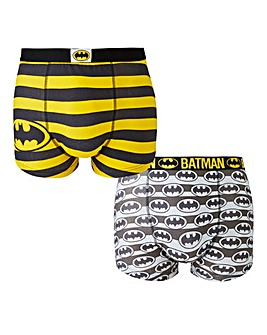Batman Black Print Pack of 2 Boxers