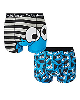 Cookie Monster Printed Pack of 2 Boxers