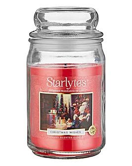 Starlytes Christmas Wishes Large Jar
