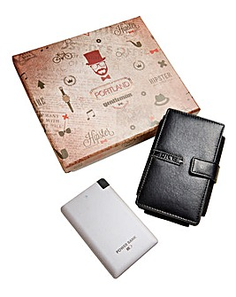 Leather Smartphone & Wallet Powerbank