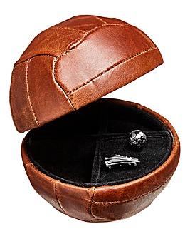 Leather Cufflink Box and Cufflinks
