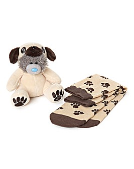 Me to You Pug Plush and Socks Gift Set