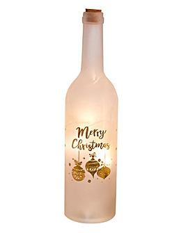 LED Glass Bottle Merry Christmas