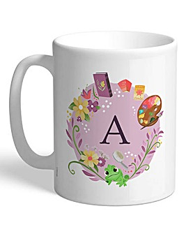 Personalised Disney Princess Initial Mug