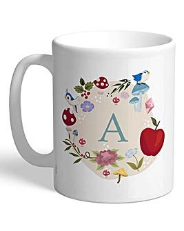 Personalised Disney Princess Initial Mug