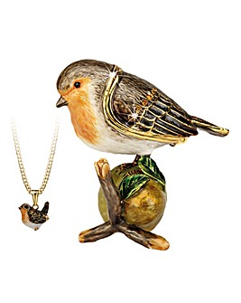Robin Trinket Box with Necklace