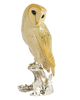 Silver Plated Barn Owl Ornament