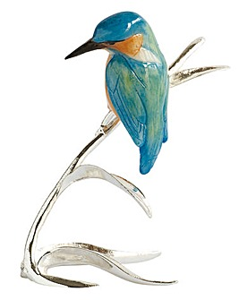Silver Plated Kingfisher Ornament