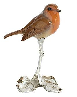 Silver Plated Robin Ornament