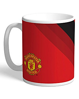 Personalised Man Utd Stripe Mug