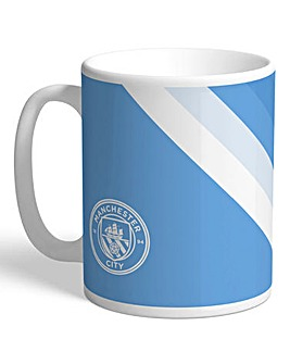 Personalised Man City Stripe Mug