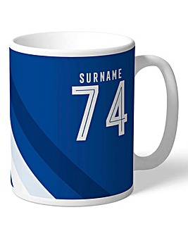 Personalised Chelsea Stripe Mug