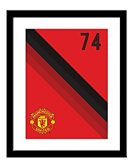 Personalised Man Utd Framed Print