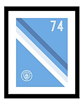Personalised Man City Framed Print