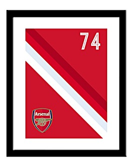 Personalised Arsenal Framed Print
