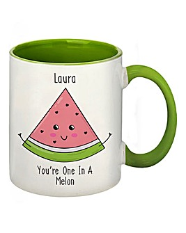 Personalised One in a Melon Coloured Mug