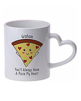 Personalised Pizza My Heart Coloured Mug