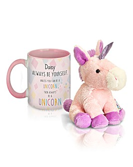 Personalised Unicorn Mug with Plush
