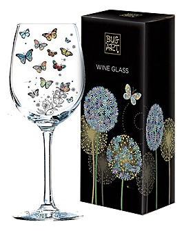 Wine Glass Butterfly