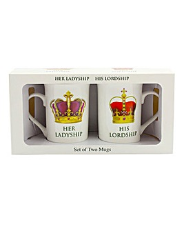Lord And Lady Pair Of Mugs