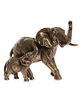 Reflections Bronze Elephant And Baby