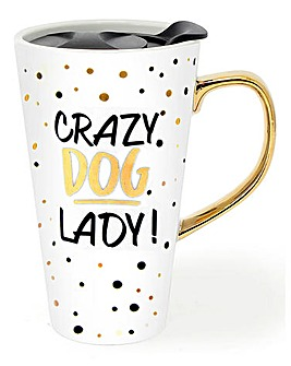 Gold Travel Mug Dog
