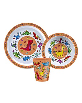 Little Stars Dinosaur Dinner Set Of 3