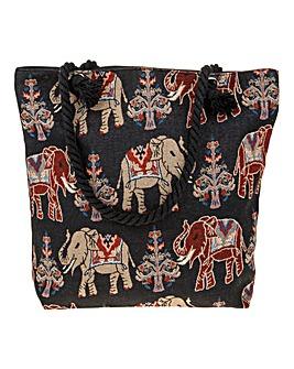 Black Elephant Tote Bag